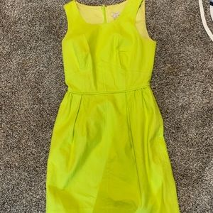 Yellow j crew sleeveless dress